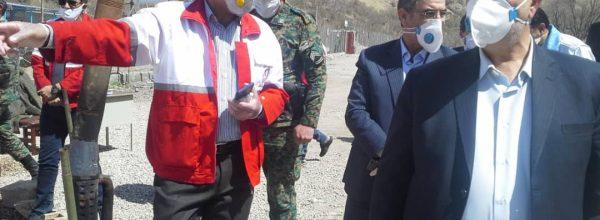 استقرار۱۰ ایستگاه بازرسی طرح سلامت جمعیت هلال احمر در محورهای خروجی و  ورودی استان وپایش وتب سنجی  قریب به ۱۰۰هزار نفر
