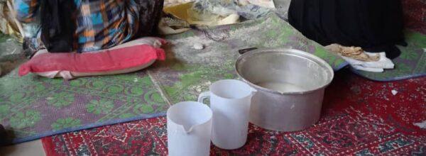 پخت نان محلی توسط گروه جهادی ولایت مصلی برای نیازمندان
