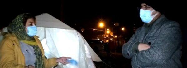 حضور شبانه استاندار کهگیلویه و بویراحمد در بین مردم زلزله دنا